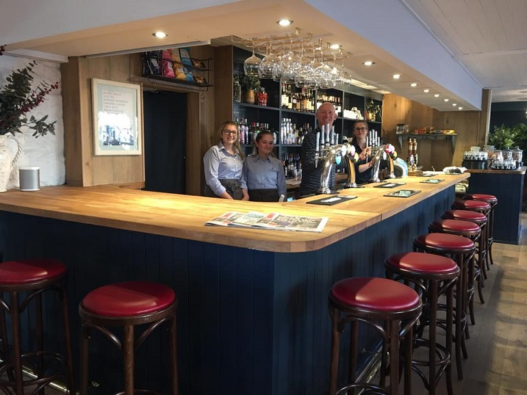 New bar on opening day