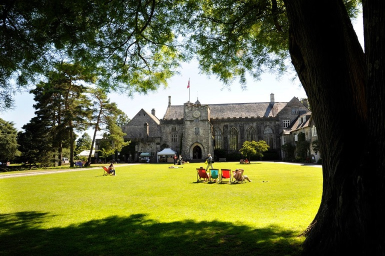 Dartington hall exterior in the sun_web