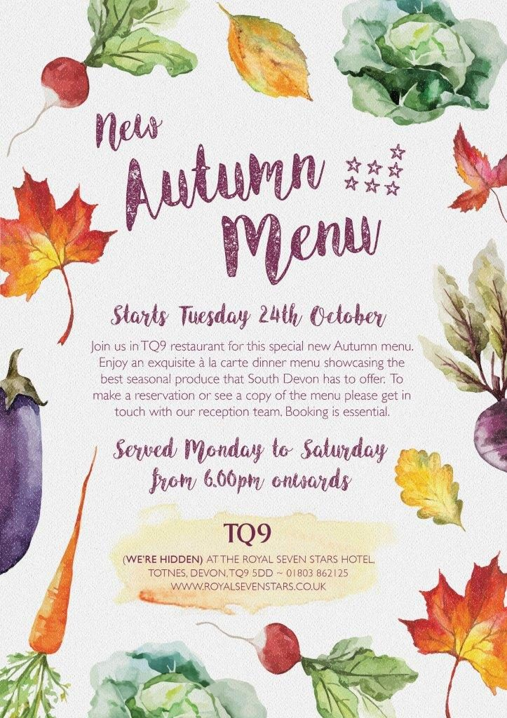 TQ9 New autumn menu POS
