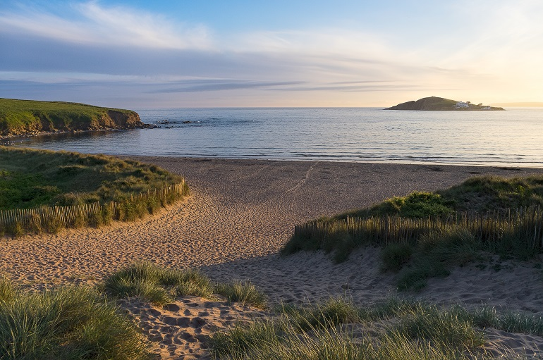 Bantham Beach and Burgh Island late golden hour Phil Hemsley web